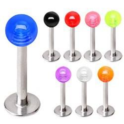 Piercing micro-labret acrílico 01 - UV unicolor Bola