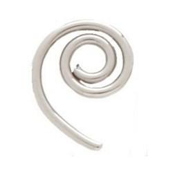 piercing oreja original 30 - espirale sencillo en acero