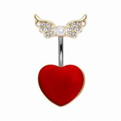 Piercing ombligo corazón 24 - arriba y abajo