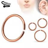 anillo 0,8mm à 1,2mm - Gold-ip sencillo rosa