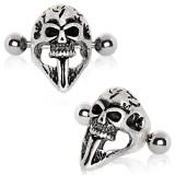 Piercing helix 05 - escudo cráneo puntou