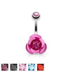 Piercing ombligo Flor 02 - pequeña rosa