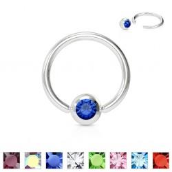Piercing anillo 1,6mm 12 - Strass