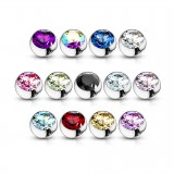 Bolas con strass 1,2mm