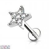 Piercing micro-labret 132 - estrella multistrass