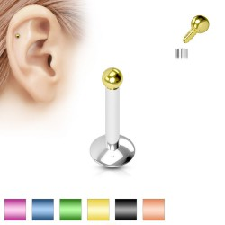 Piercing micro-labret 33 - PVD Bola screw in