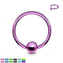Piercing anillo BCR PVD O,8 ou 1mm