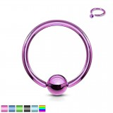 Piercing anillo 1,6mm 03 - PVD