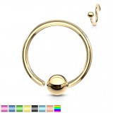 Piercing anillo 1,6mm 116 - PVD 1 borde adjunto