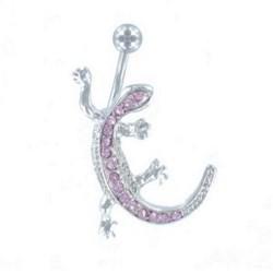 Piercing ombligo Salamandra rosa (21)
