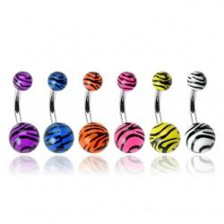 Piercing ombligo UV 62 - cebra