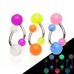 Piercing ombligo UV 17 - fluorescente