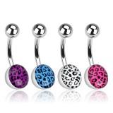 Piercing ombligo logo leopardo