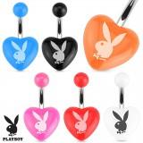 Piercing ombligo Playboy 15 - acrílico corazón
