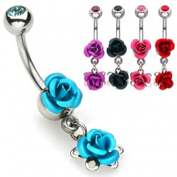 Piercing ombligo Flor 16 - dos rosas