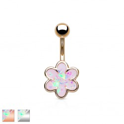 Piercing ombligo Flor 21 - Glitter