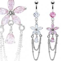 Piercing ombligo Flor 32 - cadenattes
