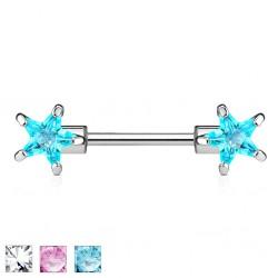 Piercing teton barbell 03 - zircona estrella