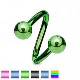 Piercing espirale 14 - PVD Bolas