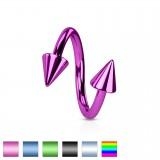 Piercing espirale 15 - PVD Picos