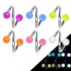 Piercing espirale 17 - fluorescente