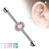 Piercing industrial 163 - Oval multistrass