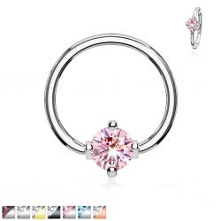 Piercing anillo 1,6mm 28 - Cristal ronda