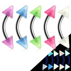 Piercing ceja acrílico 13 - fluorescente Picos
