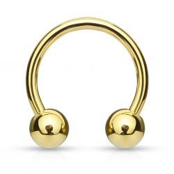 Piercing micro-circular 05 - chapado-oro Bolas