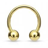 Piercing circular 03 - chapado-oro Bolas