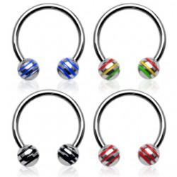Piercing micro-circular 12 - acero Bolas estriado