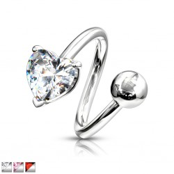 Piercing espirale 27 - corazón