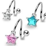 Piercing espirale 31 - Cristal estrella