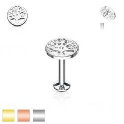 Piercing micro-labret 28 - árbol de vida