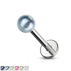 Piercing labret UV 12 - perlas brillantes