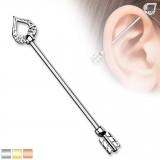 Piercing industrial 181 - flecha de cupidon