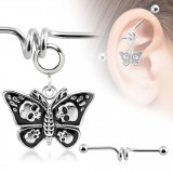 Piercing industrial 134 - mariposa gótico