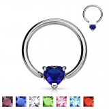 Piercing anillo 1,6mm 09 - Cristal corazón