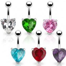 Piercing ombligo cristal 24 - corazón