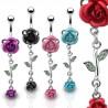 Piercing ombligo Flor 04 - rosas