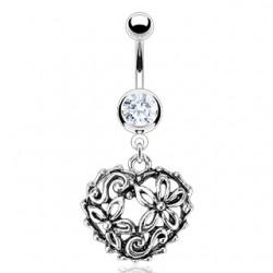 Piercing ombligo corazón 26 - hueco flower