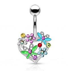 Piercing ombligo corazón 09 - Flors y mariposas
