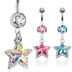 Piercing ombligo estrella 02 - Doble