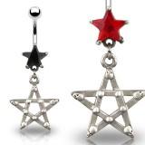 Piercing ombligo estrella 05 - gótico