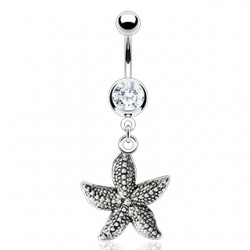 Piercing ombligo estrella de mar réaliste (11)