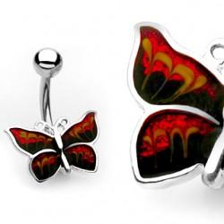 Piercing ombligo mariposa alas sombres (45)