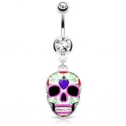 Piercing ombligo gótico 24 - cráneo mexicano D