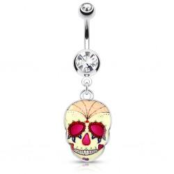 Piercing ombligo gótico 06 - cráneo mexicano A
