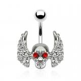 Piercing ombligo gótico 29 - cráneo ailé
