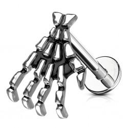 Piercing micro-labret 34 - mano esqueleto